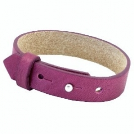 Cuoio Armband Leer 15mm Fuchsia Orchid Rose