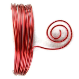 AluDeco Wire 1mm Red Round (10m)