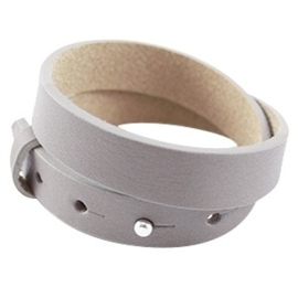 DUBBELE Cuoio Armband Leer 15mm Velvet Taupe