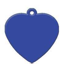 Heart Blue aluminium