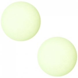 Cabochon Polaris matt 20 mm Pastel crysolite green