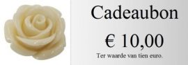 Cadeaubon 10,00 euro