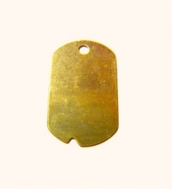 Tag Military Dogtag Messing