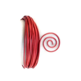 AluDeco Wire 2mm Red Embossed (5m)