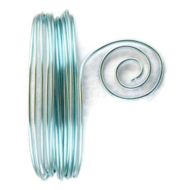 AluDeco Wire 1mm Ice Blue Round (10m)