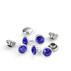 Crystal Rivet Sapphire Royal Blue rond (2st) ImpressArt