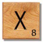 Houten Scrabble Letter X