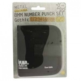 Number Punches Gothic Set 8mm