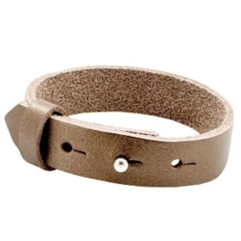 Cuoio Armband Leer 15mm Metallic Bronze