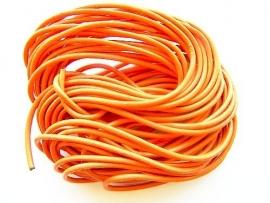 Koord Leer 3mm dik Oranje