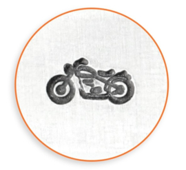 Design stempel Motorcycle 6mm ImpressArt