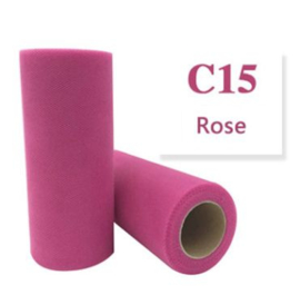 Tule  Rose 15cm breed XXL rol 90 METER C15