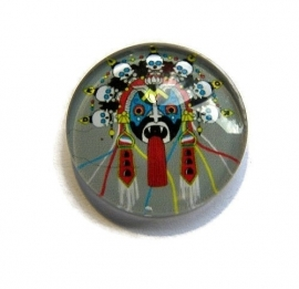 Mask with Skulls 20mm Glas Cabochon Rond