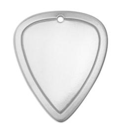 BORDER Tag Guitar Pick LARGE aluminium