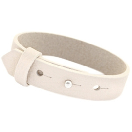 Cuoio Armband Leer 15mm Orchid White