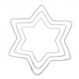 Ring  metalen Ster 20 cm diameter