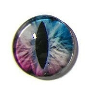 Dragon Eye 018, 25mm Glas Cabochon Rond
