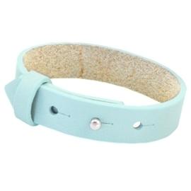 Cuoio Armband Leer 15mm Aruba Blue