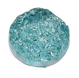 Druzy Resin cabochon rond  Turquoise 12mm