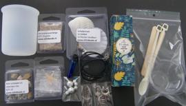 Materialen pakket tbv Online Workshop UV-Resin Schelphanger