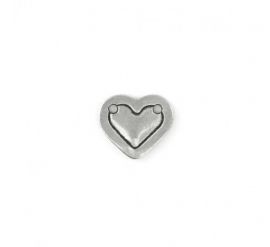 Heart Border Small Pewter