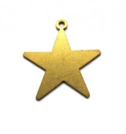 Tag ster met oogje messing