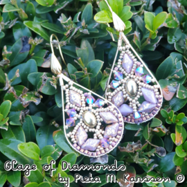 """DIY Pakketje """"Glaze of Diamonds"""" Oorbellen Patroon van Pieta M. Karssen"""