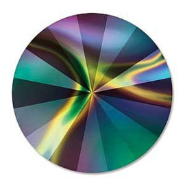 1122 Swarovski Rivoli 14mm Crystal Rainbow Dark Foiled
