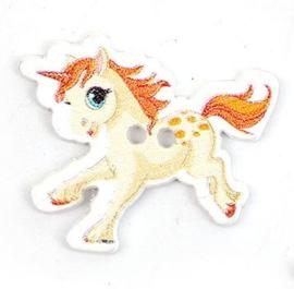 Knoop Hout Eenhoorn Pony Geel