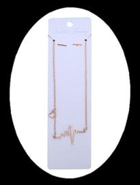 Kaarten voor sieradensets, wit met zakje (ca 30 stuks)