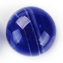 VOORDEELVERPAKKING 20 stuks Resin Cabochons, Royal Blue Inkspot 18mm