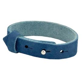 Cuoio Armband NUBUCK Leer 15mm Eagean Blue