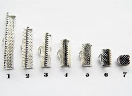 Lintklemmetje Silver Plated 13x8mm NO.5