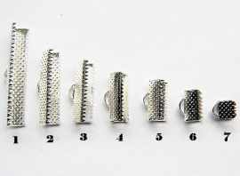 Lintklemmetje Silver Plated 10x8mm NO.6