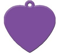 Heart Purple aluminium