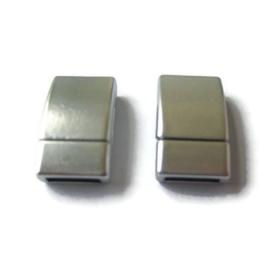 Leer Slot Magnetisch Zilverkleur 002