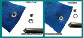 Nestel rond Aluminium 5mm (10 st.)