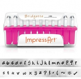 Lowercase Bridgette Letter Set 3mm ImpressArt