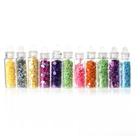 Setje met 12 kleuren figuur Glitters