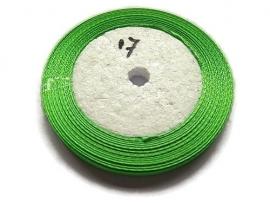 No.17 Groen Satijnlint 6mm (per rol)