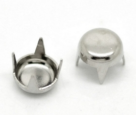 Studs Rond Silver tone 5mm (10st.)