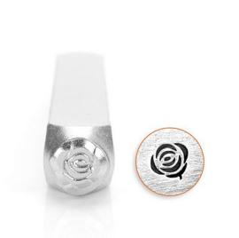 Design stempel Rose 6mm ImpressArt