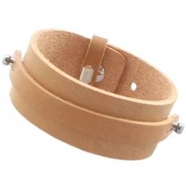 BREDE Cuoio Armband Leer met 8mm bandje Aztec Bruin