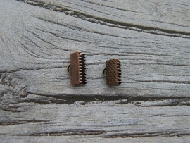 Lintklemmetje Koper 13x8mm NO.1