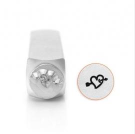 Design Stempel Heart with Arrow 6mm ImpressArt