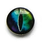 Dragon Eye 007, 18mm Glas Cabochon Rond