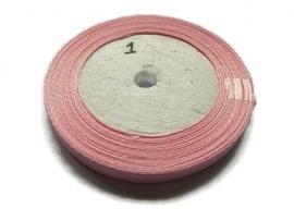 No.1 Roze Satijnlint 10MM (per rol)