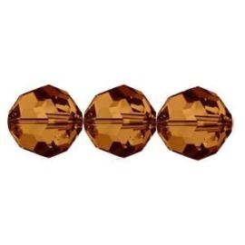 Swarovski kralen rond 4mm Colorado Topaz (10st.)