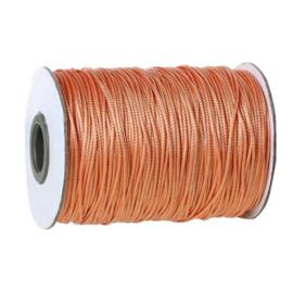 Koreaans Polyester Waxkoord Licht Oranje 1mm