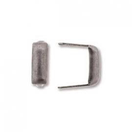 Antiek zilveren stud krammetje langwerpig